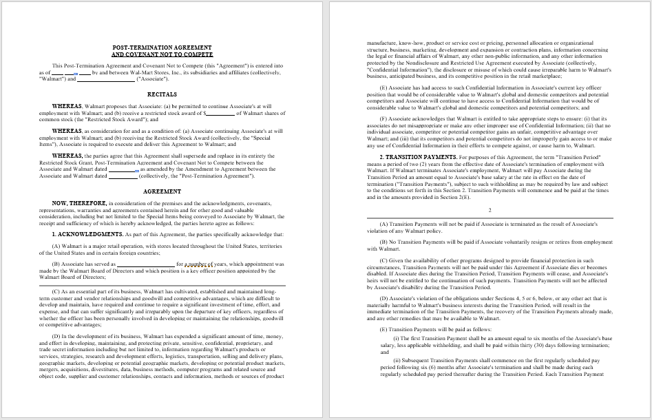 Non-Compete Agreement Template 06