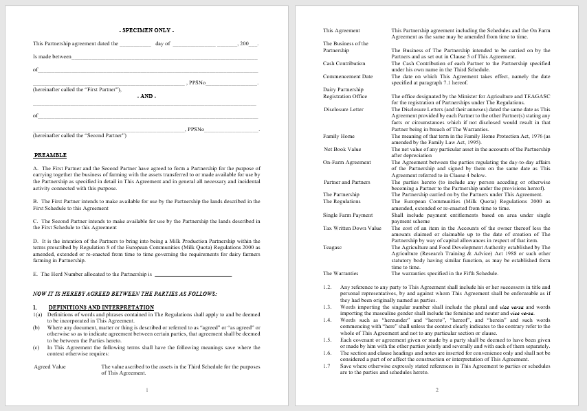 Partnership Agreement Template - MS Word 06