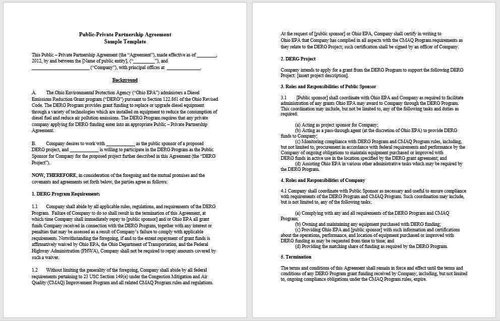 Partnership Agreement Template - MS Word 07