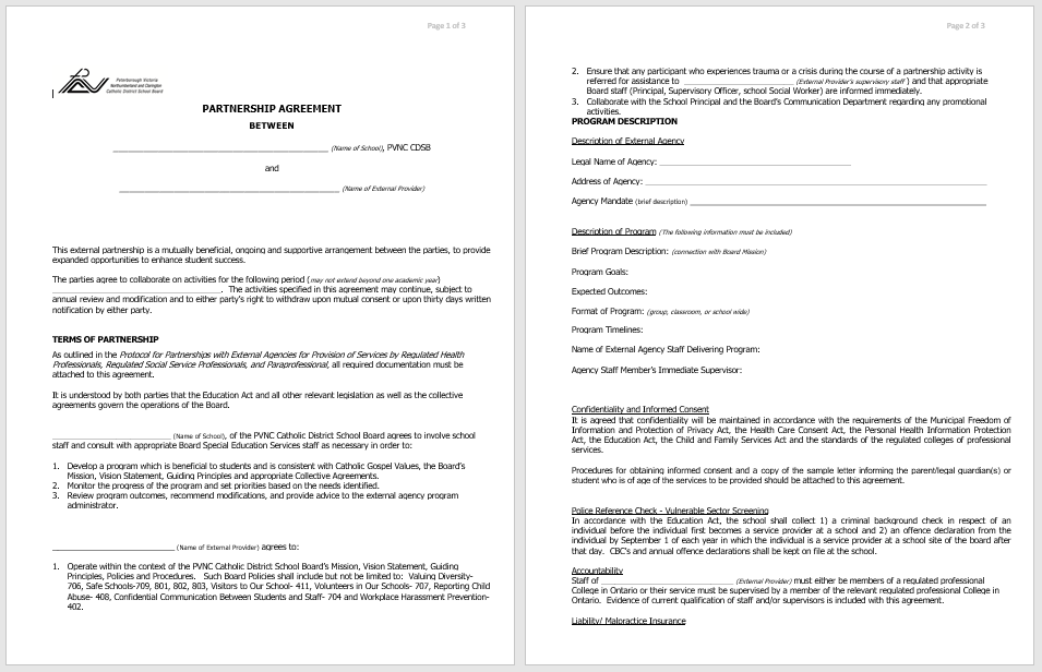 Partnership Agreement Template - MS Word 09