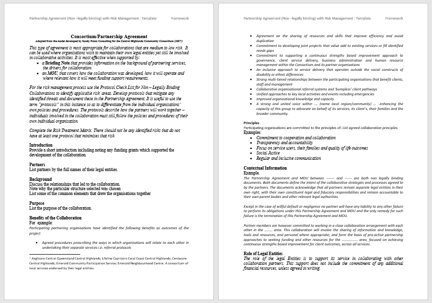 Partnership Agreement Template - MS Word 11