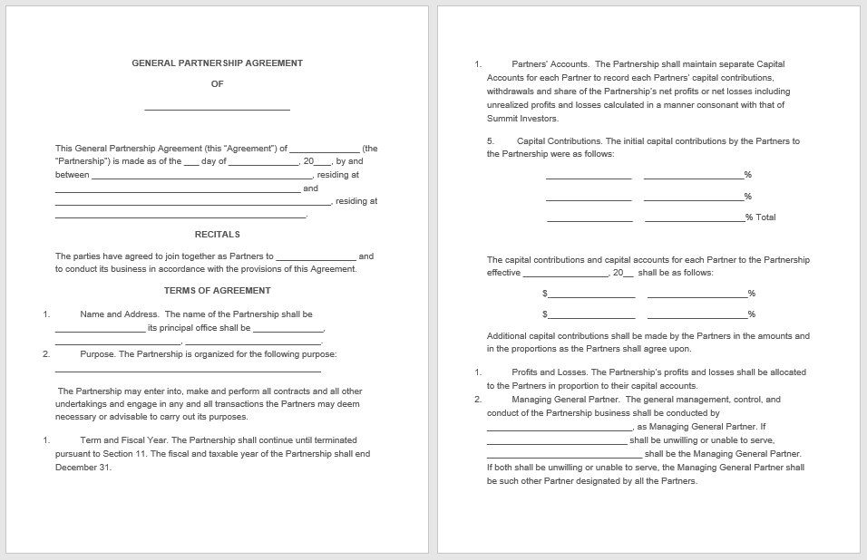 Partnership Agreement Template - MS Word 17