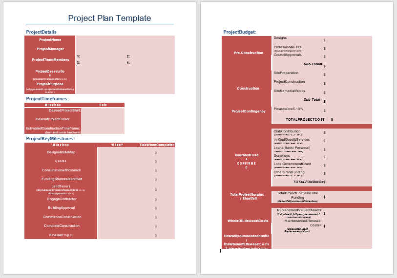 Project Plan Template 11