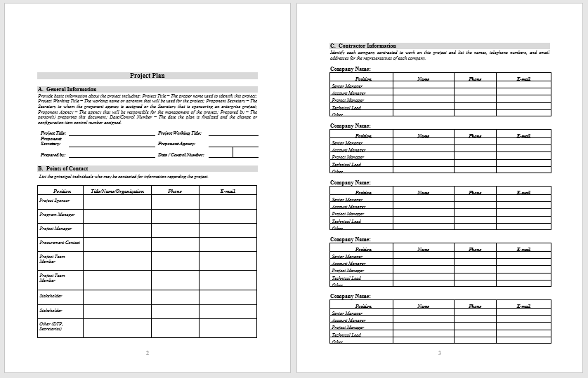 Project Plan Template 13
