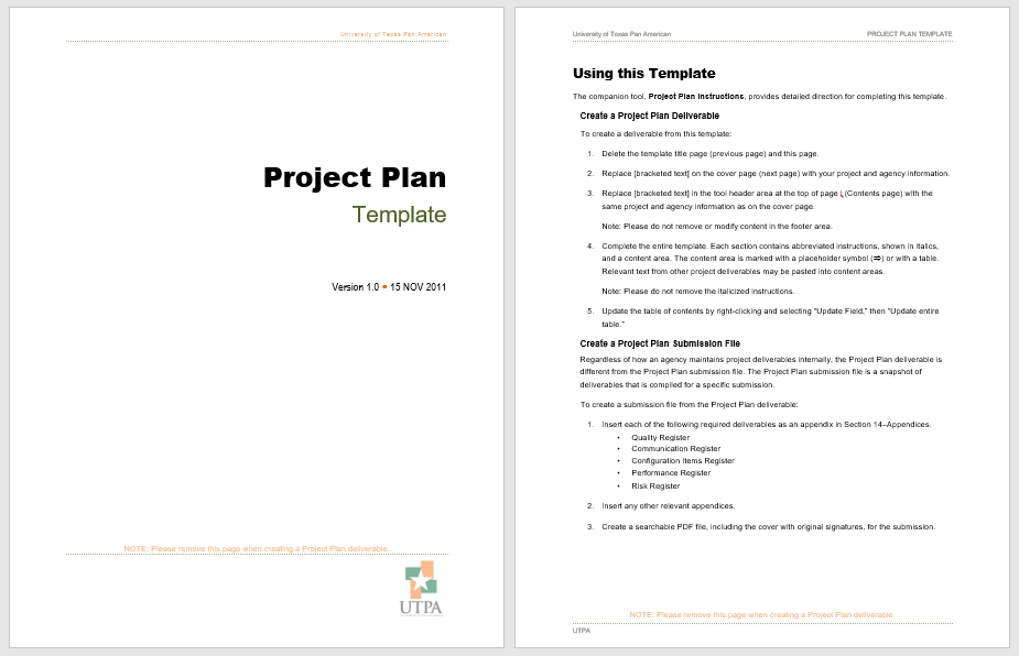 Project Plan Template 15