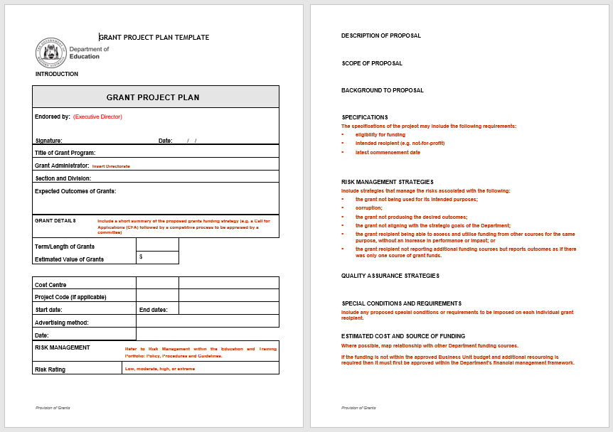 project plan templates