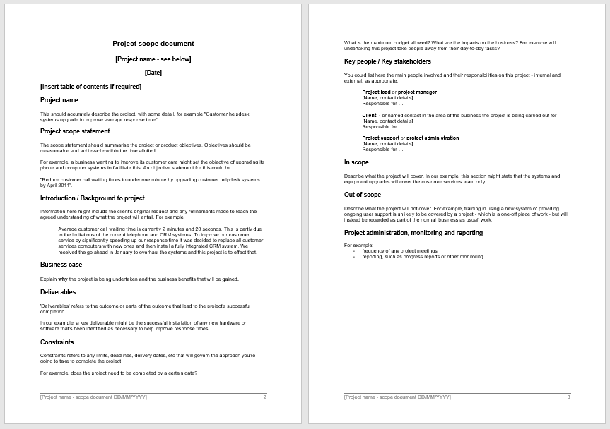 Statement of Work Template 13