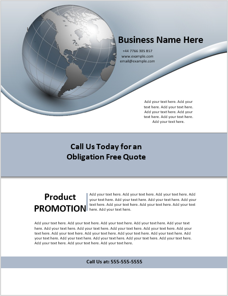 Business Advertisement Flyer Template