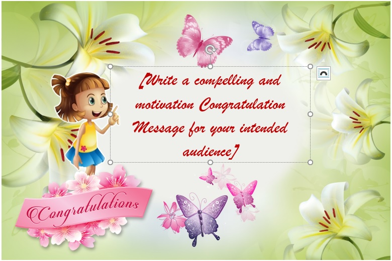 Kids Congratulations Card Template