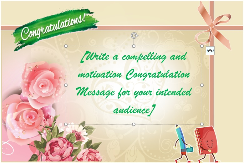 Cute Congratulations Card Template