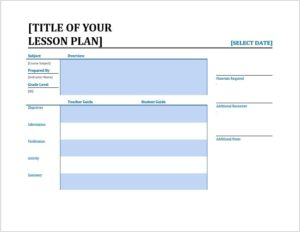 Lesson Plan Template 01