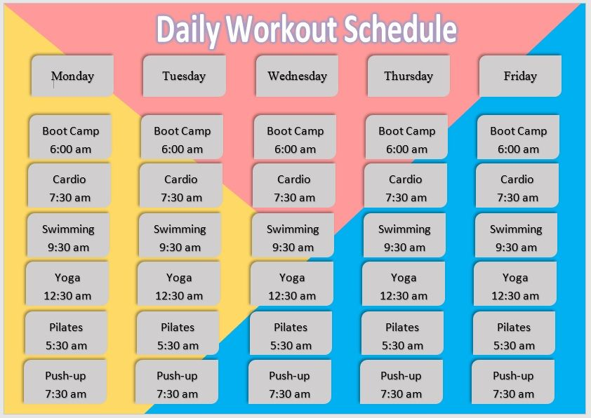 Daily Workout Schedule Template 04
