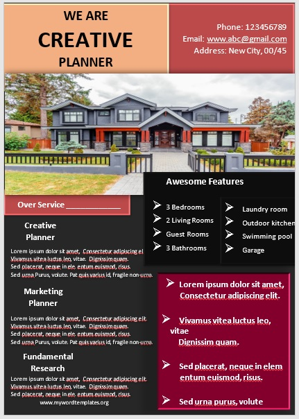 Apartment Flyer Template 04