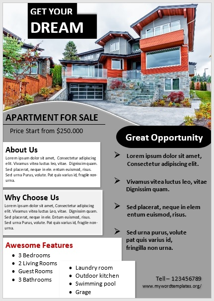 Apartment Flyer Template 05