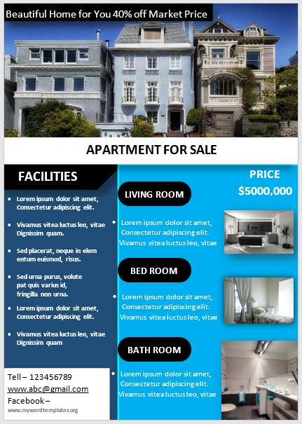 Apartment Flyer Template 06