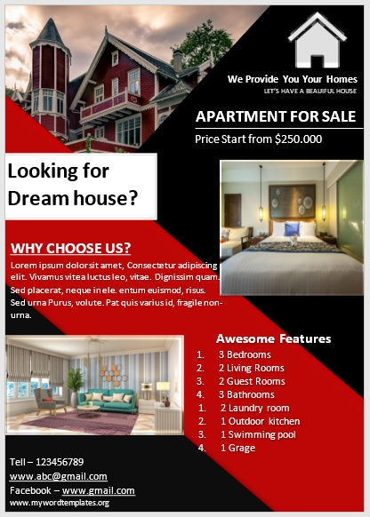 Apartment Flyer Template 08
