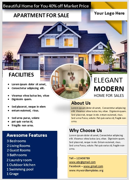 Apartment Flyer Template 10