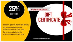 Free Gift Certificate Template 01