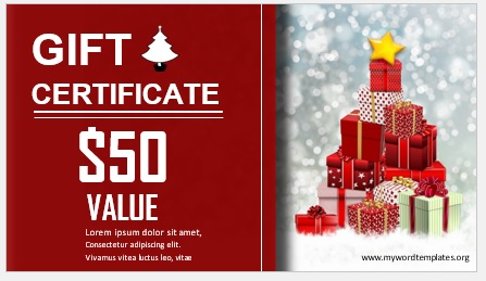 Free Gift Certificate Template 02