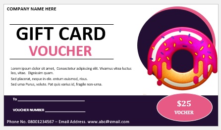 Free Gift Certificate Template 03