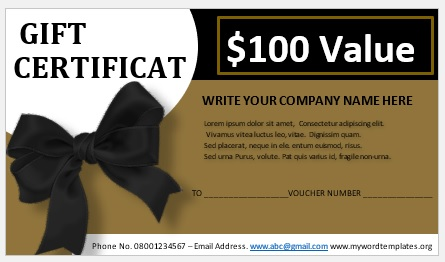 Free Gift Certificate Template 05