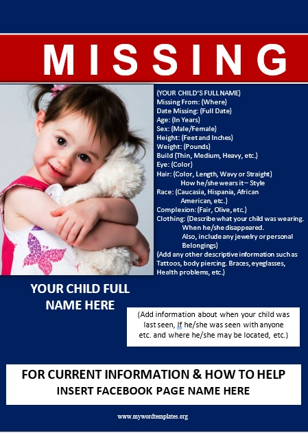 Missing Person Poster Template 01 (2)