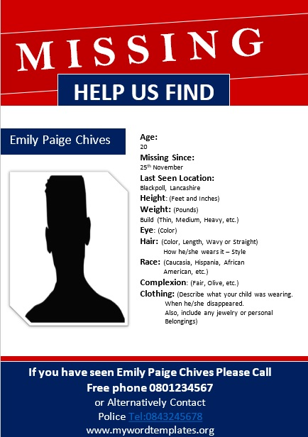 Missing Person Poster Template 06
