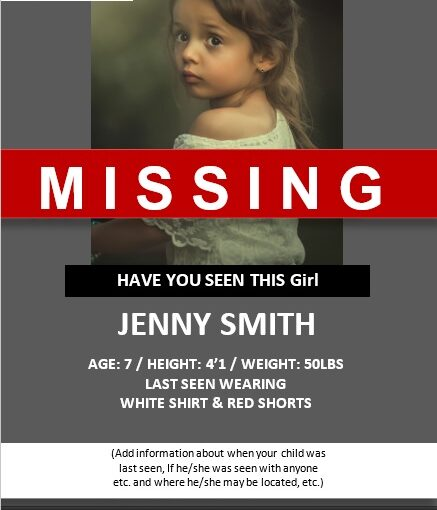 Missing Person Poster Template 07