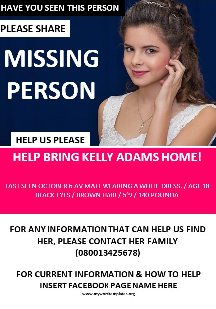 Missing Person Poster Template 10