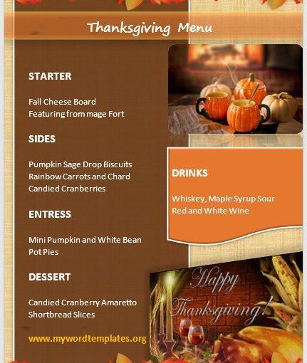 Thanksgiving Menu Template 01