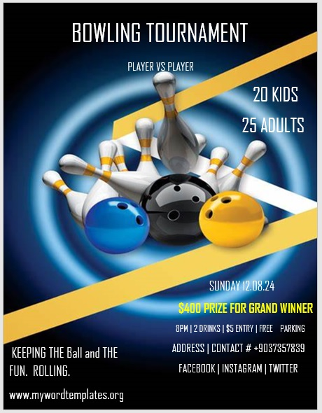 Bowling Flyer Template 01