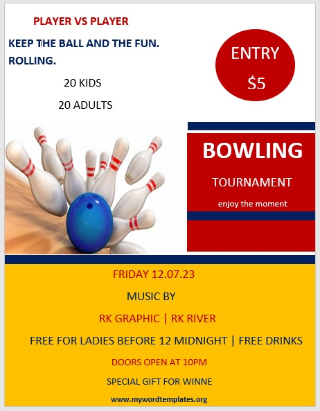 Bowling Flyer Template 02