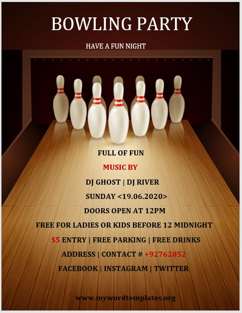 Bowling Flyer Template 05