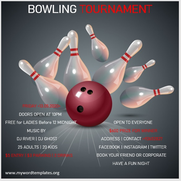 Bowling Flyer Template 09