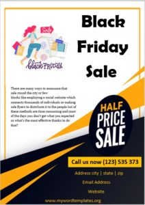 For Sale Poster Template 03