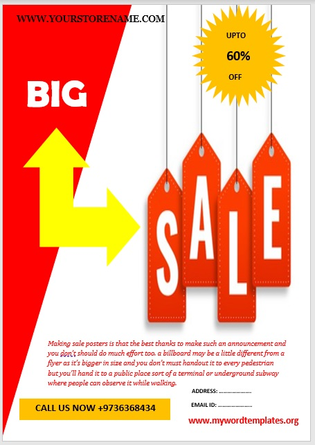 For Sale Poster Template 04
