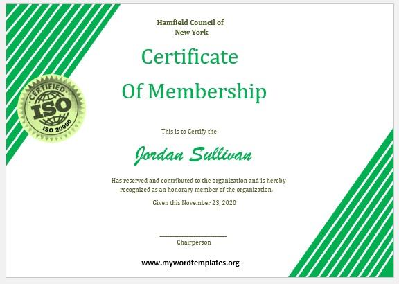 Membership Certificate Template 08