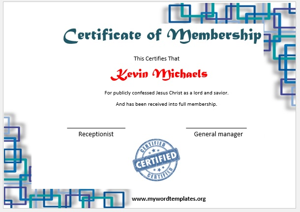 Membership Certificate Template 09