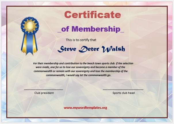 Membership Certificate Template 10