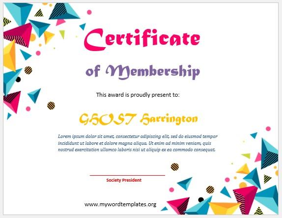 Membership Certificate Template 11